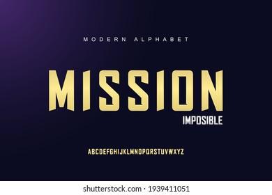 Elegant Gold alphabet font set. Typography modern style display font. Premium Vector
