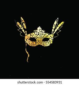 Elegant Gold Carnival Masc