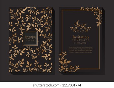 Elegant Gold Invitation