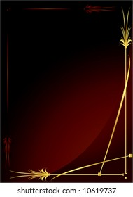 Elegant gold red background 2