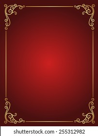 Elegant gold and red / maroon color blank / empty background . perfect as stylish wedding invitations and other party invitation cards or announcements