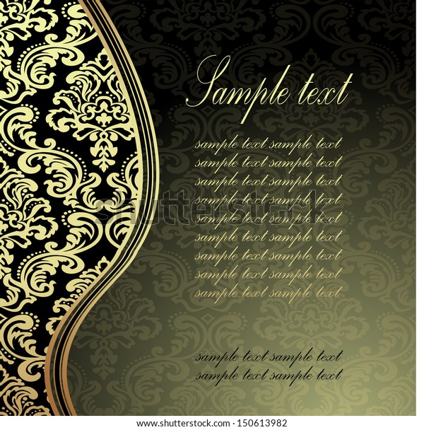 Vector De Stock Libre De Regalías Sobre Elegant Gold