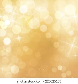 Elegant Golden Bokeh Background