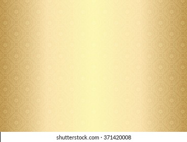 Elegant golden / metallic background with seamless floral pattern. Print colors used; The pattern can be found in swatch panel.
