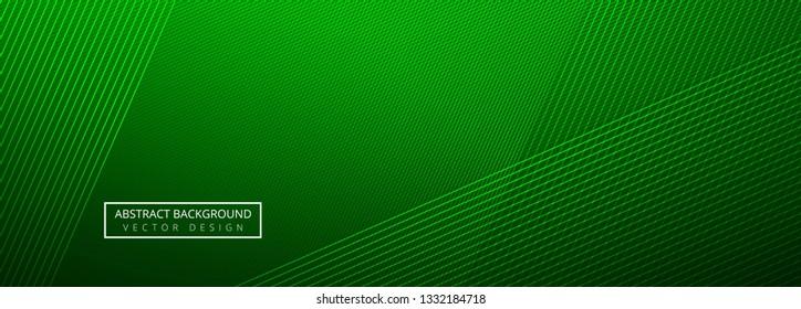 Elegant green creative lines header template background