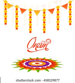 Atham images stock photos vectors shutterstock elegant greeting card design decorated with beautiful flower rangoli for south indian festival happy onam m4hsunfo Images