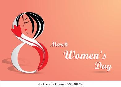 Elegant greeting card for International Women's Day