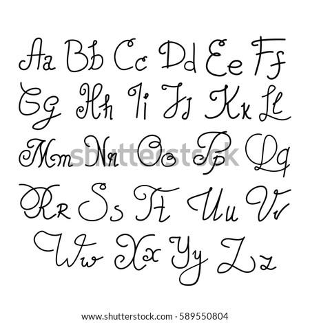 elegant handwritten letters calligraphy cursive font for design badges logos prints
