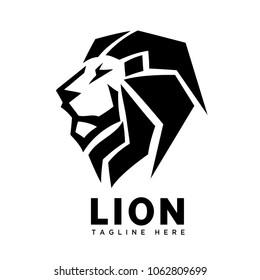 elegant head lion mane part logo