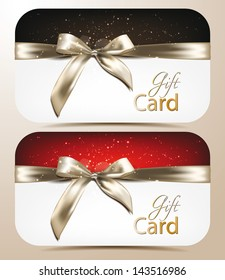 Elegant holiday cards with bows