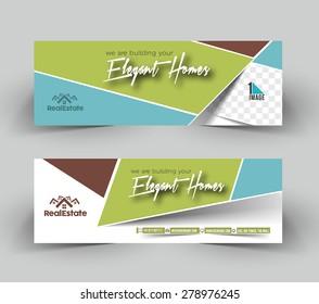 Elegant Homes Header & Banner Design