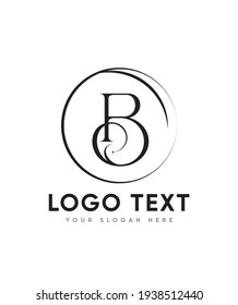 An elegant and imposing letter type B logo template, Vector logo for business and company identity