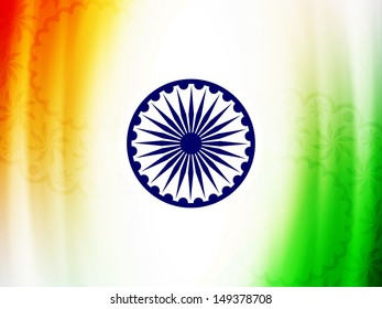 Elegant Indian flag theme background design for Indian independence day and republic day. vector illustration