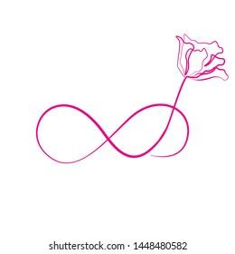 Elegant infinity sign, vector illustration