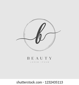 Elegant Initial Letter Type B Logo With Brushed Circle