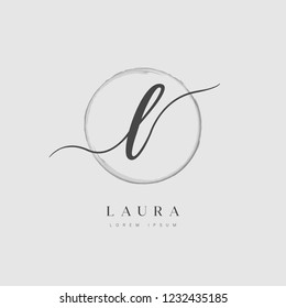 Elegant Initial Letter Type L Logo With Brushed Circle