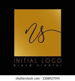 elegant initial ns n s letter logo template