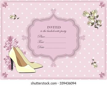 Elegant invitation for a bachelorette party.
