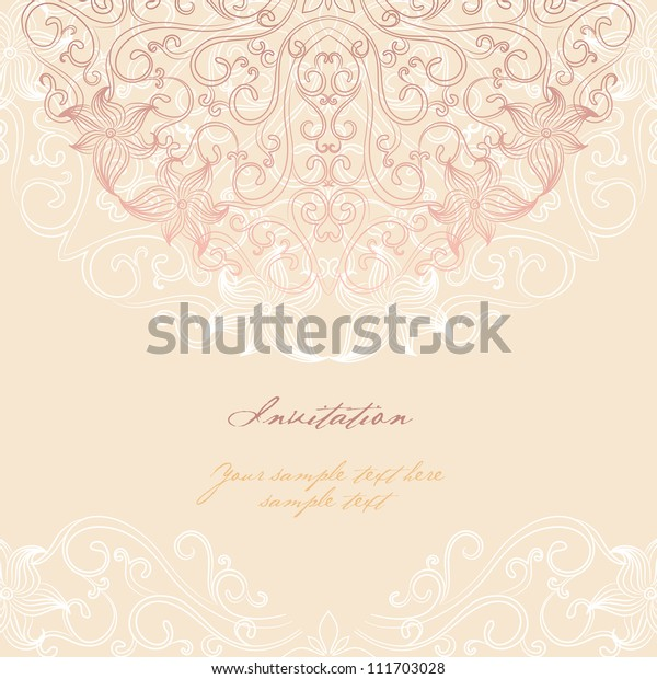 Elegant Invitation Cards Vector Illustration Stock Vector (Royalty ...