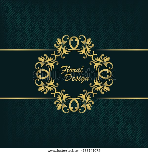Elegant Invitation Floral Design Seamless Background Stock Vector ...