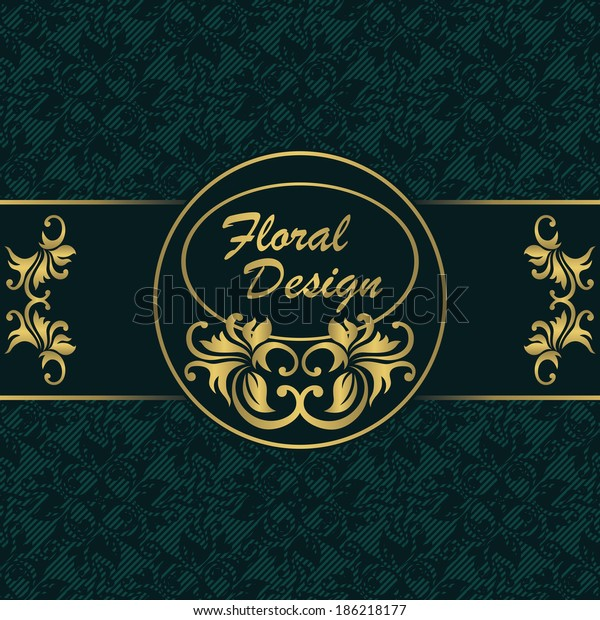 Elegant Invitation Floral Design Seamless Striped Stock Vector ...