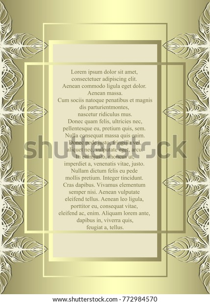 Elegant Invitation Gold Frames Stock Vector (Royalty Free) 772984570