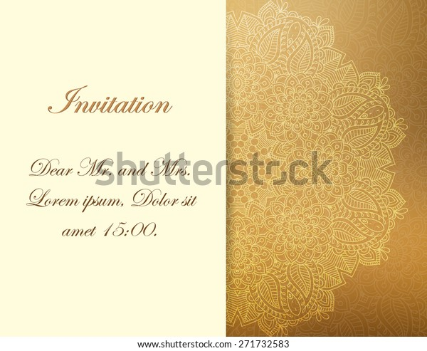 Elegant Invitation Layout Your Design Stock Vector (Royalty Free ...