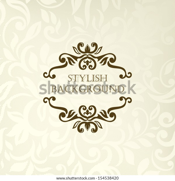 Elegant Invitation Vintage Frame Design Stock Vector (Royalty Free ...