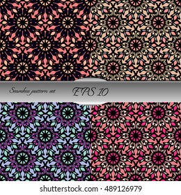 Elegant lace-like seamless pattern. Nice hand-drawn illustration