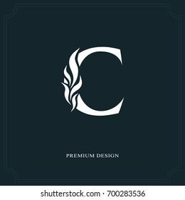 Elegant letter C. Graceful royal style. Calligraphic beautiful logo. Vintage drawn emblem for book design, brand name, business card, Restaurant, Boutique, Hotel. Vector illustration