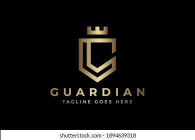 elegant letter c king guardian logo
