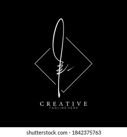 Elegant Letter I L Black Handwriting Signature Logo Design Template with Square Background