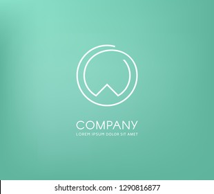Elegant letter 'W' in a circle. Stylish logo for branding identity. Vector image.