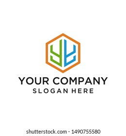 Elegant letter YY logo design vector for business company