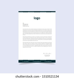 Elegant letterhead template design in minimalist style. Vector illustration.