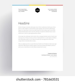 Letterhead template images stock photos vectors shutterstock elegant letterhead template design in minimalist style spiritdancerdesigns Gallery