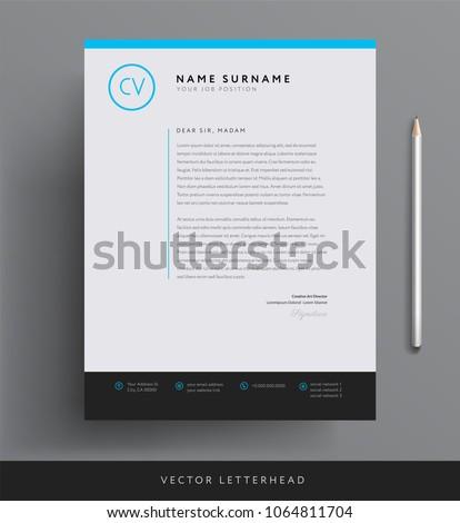 Elegant letterhead template design minimalist style stock vector elegant letterhead template design in minimalist style maxwellsz