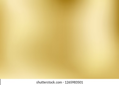 Elegant light and shine.Vector gold blurred gradient style background. Texture abstract metal holographic backdrop. Abstract smooth colorful illustration, social media wallpaper.