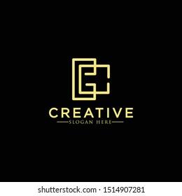 Elegant line curve vector logotype. Premium letter C logo design. Luxury linear creative monogram.