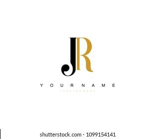 Elegant Logo Design Letter JR