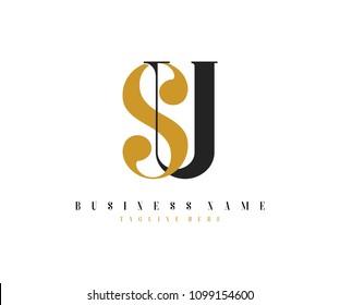 Elegant Logo Design Letter SU