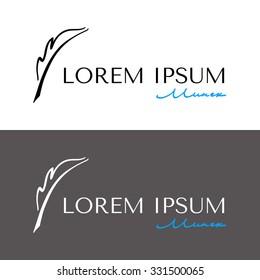 Elegant  logo with Fountain pen.