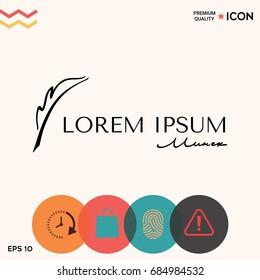 Elegant logo with Fountain pen