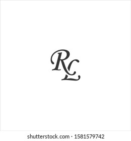 """elegant logo vector with the initials """"RL"""""""