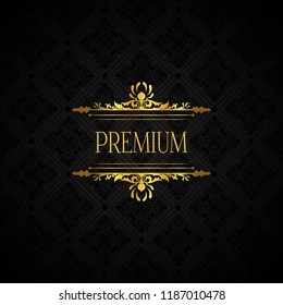 Elegant luxury brand background in gold and black