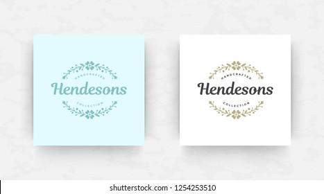 Elegant luxury brand logo design template. Modern minimalism style. Vector illustration.