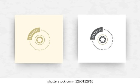 Elegant luxury brand logo design template. Modern minimalism style. Vector illustration.