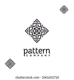 Elegant Luxury Line Pattern Logo design inspiration