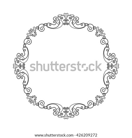 elegant luxury vintage calligraphy frame template stock vector