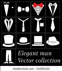 Elegant man clothes vector collection